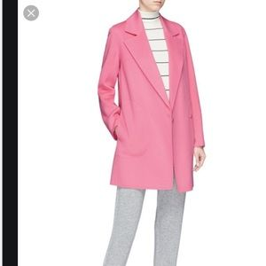NWOT theory boy coat in pink